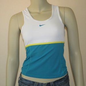 Nike Color Block Stretchy Tank Top XS